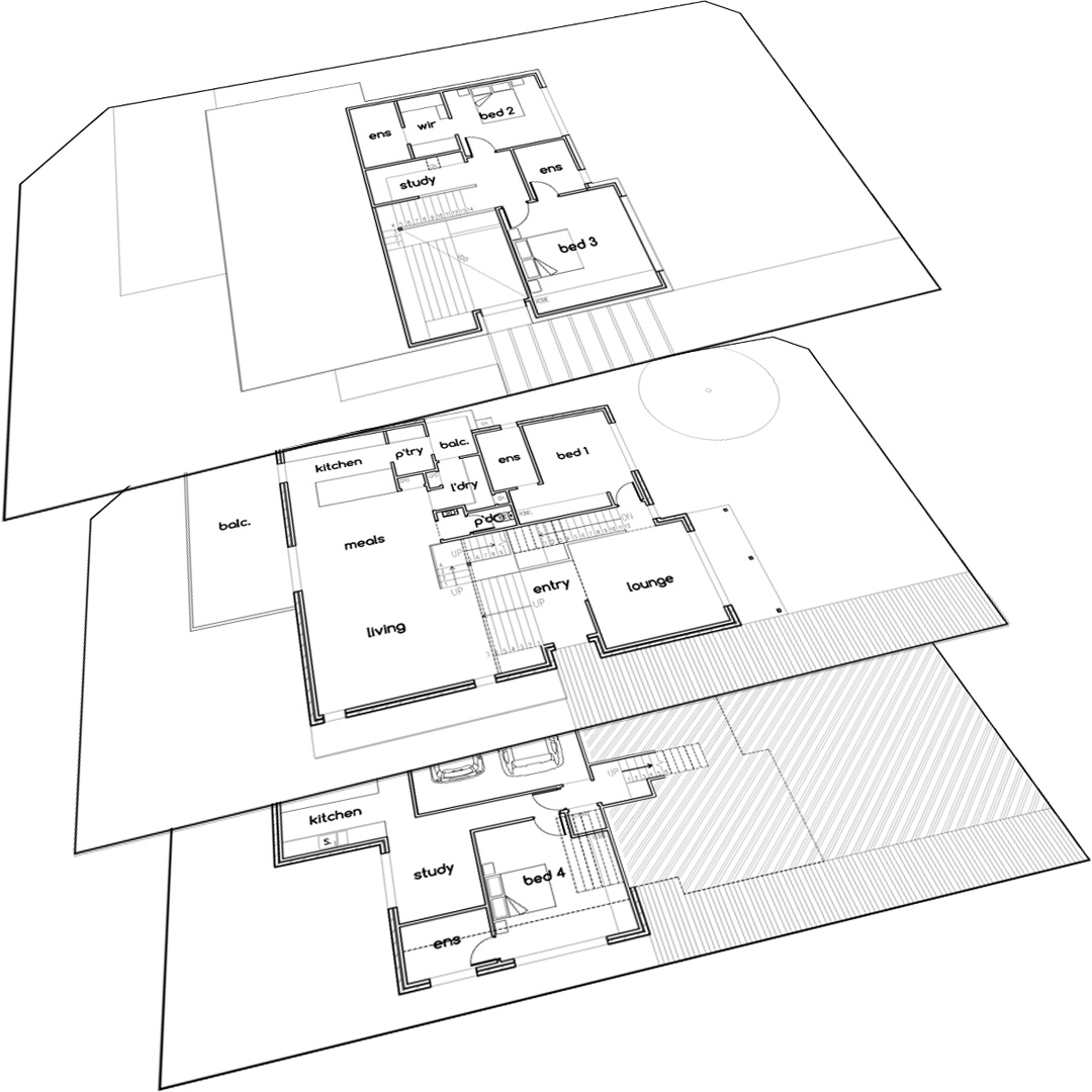 House plans for Multi-storey house